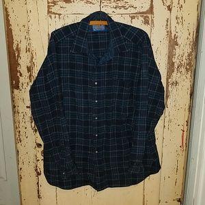 Men's Vintage Pendleton wool button up shirt L